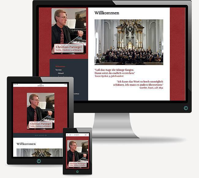 Lehrer, Chorleiter und Dirigent Christian Parsiegel